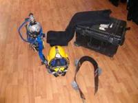Kirby Morgan 27 dive helmet with Pelican case, weight