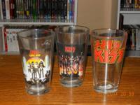 16OZ 3PC GLASS SET--$25. VIC FIRTH DRUMSTICKS W/4 KISS