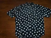 ACE FREHLY autographed Polka Dot Shirt by Perry Ellis!