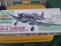 Flying balsa wood Corsair! old but never put together,