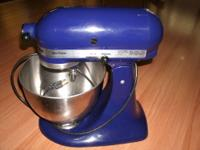 It is like new! Cobalt Blue Kitchen Aide Ultra Power