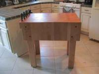 This is a beautiful solid rock maple Butcher Block in