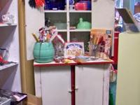 Red and white Kitchen Cabinet   If you have any
