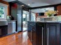 All wood cabinets with full overlay doors and full