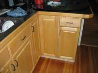 Kitchen cabinets: upper-width36x30(glass doors&lights),