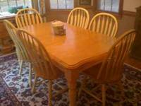 This is a very nice kitchen or dining room table in