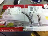 New kitchen faucets, nickel color, 4 hole installation