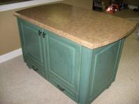 JIm Bishop Kitchen Island as shown with laminate