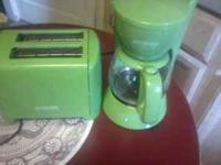 Lime Green Toaster and Coffee Pot - $20 for set. Mugs-