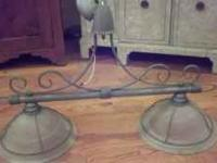 Pewter light fixture, call sandra  Location: clark