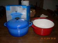 I have for sale 2 cast iron 5 qt. dutch ovens with