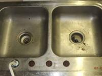 Kitchen sink used but fucntional