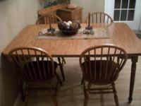 Nice kitchen table with 4 chairs. call  Location: