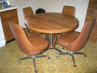 "Kitchen Table and four (4) Chairs. Also have 16"" leaf"