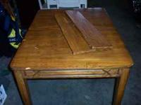 For sale is this very nice older solid wood table.