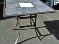 Distinct tall Style Kitchen/ Patio Tile Top Table.