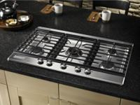 "KitchenAid Architect 5-Burner Gas 36"" Cooktop Stainless"