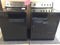 Kitchenaid Black Washer Dryer Set Pair Used