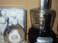 Black Kitchen aid food processor with all the