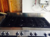 LIGHTLY USED COMMERCIAL GRADE KITCHENAID STOVETOP 8