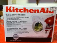 This KitchenAid Slicer and Shredder attachment for a