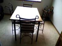I want to sell a kitchenette dining set with 4 chairs.