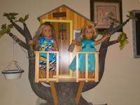 American girl doll tree house Retired in 2011. Comes