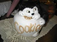Kitten Cookie Jar Cute little black and white kitty
