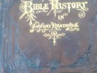 Original book. Kitto's BIBLE HISTORY IN SUNDAY