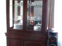 CHINA CABINET almost New ' China cabinet less than a