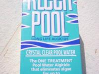 Simply pour KLEEN POOL 6 MONTH algaecide into the water