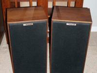 Mint VINTAGE KLIPSCH KG3 OILED WALNUT FINISH SPEAKERS
