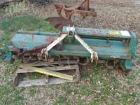 KMC heavy duty 6 foot 3 ph rotary tiller weathered but