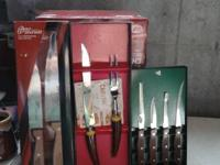 . HAVE 3 DIFFERENT SETS OF GOOD KNIFE SET'S NEVER BEEN