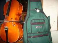 3/4 cello---czechoslovakia----fine tuners some finish