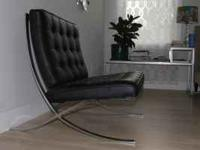 Knoll Barcelona Chair in excellent condition. Please
