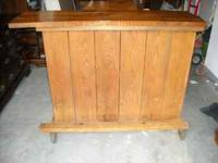 Solid wood (Knotty Pine) bar, Wine rack and