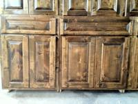 Custom Built Knotty Alder Kitchen Cabinets  FINANCING