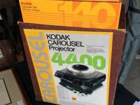 Kodak 4400 slide projector, plus 140 slide carousel,