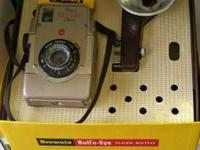 Kodak, Brownie Bulls Eye video camera w / box and film,