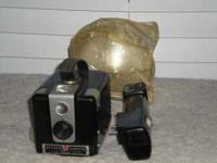 Kodak Brownie Hawkeye Camera w/ Flash. Must see to