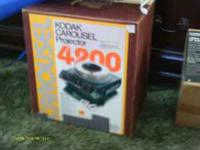Kodak Carousel Projector 4200 with Cartridge. Slide