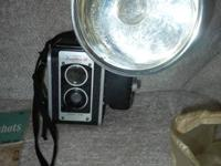 Kodak Duaflex III camera with flash setup.  I believe