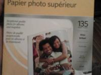 "Kodak premium photo paper. 4x6"", gloss brillant, 135"