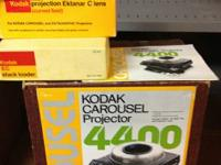 Kodak 4400 slide projector with stack loader, spare