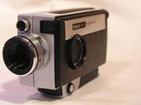 Kodak Super 8mm video camera. This camera is utilized