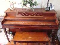 An older upright Kohler & Campbell piano, I bought it