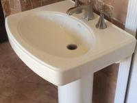 Kohler sink with pedestal. In perfect shape and is all
