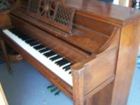 old piano plays well a little out of tune Location: