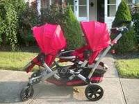For sale is a Kolcraft Contour Double Stroller. Great